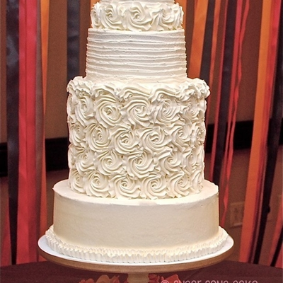 Rosette Buttercream Wedding Cake