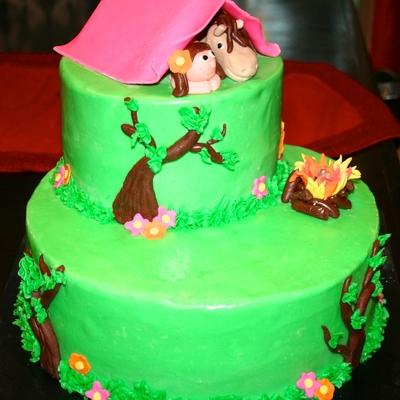 C&ing Cake & Camping tent Cake Decorating Photos