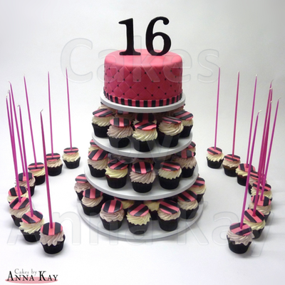 Sweet Sixteen Cupcake Tower