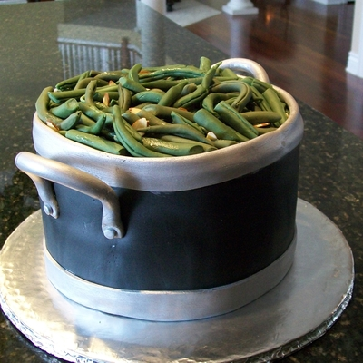 green bean cake made this for a friends birthday cake is three 8 ...