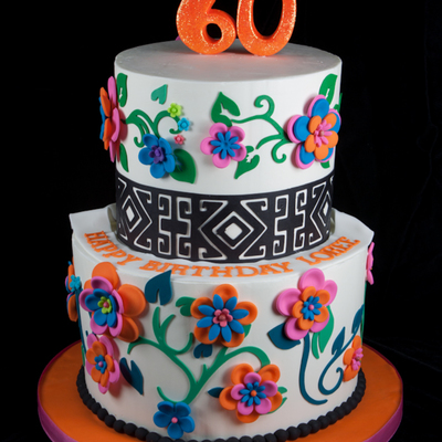 Just A Birthday Cake With Mexican Colors Palete