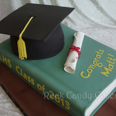 Graduation Hat & Book Cake