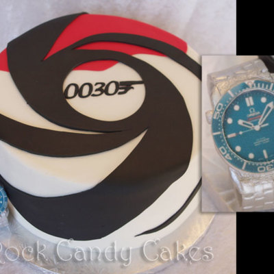 Bond Cake With Omega Watch