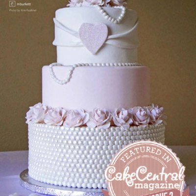 Pink & Pearl Wedding Cake From Cc Mag Vol 4 Issue 2