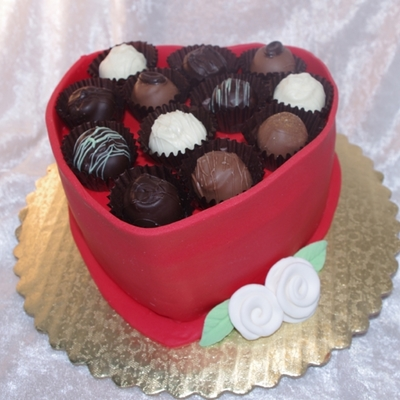 Choclate Heart Truffle Box