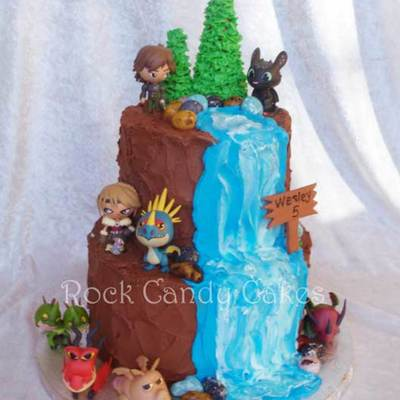 How To Train Your Dragon Waterfall Cake