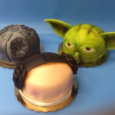 Star Wars Inspired Princess Cakes Done With Marzipan