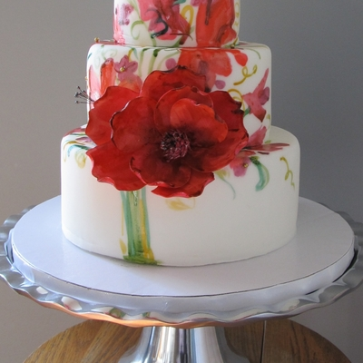 Wedding Bouquet Cake