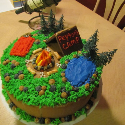 Fine Camping Cake Decorating Photos Funny Birthday Cards Online Bapapcheapnameinfo