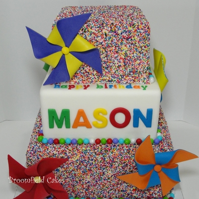 Sprinkle Cake For My Little Boy!
