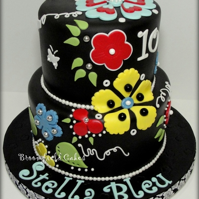 Flower Cut-Out Cake