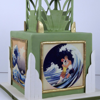 Art Deco Engagement Cake