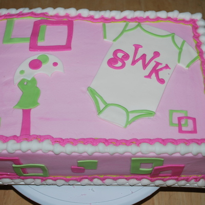 Girl Baby Shower Pink With Lady