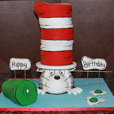 Dr Suess Cake With Dr Suess Cake Pops