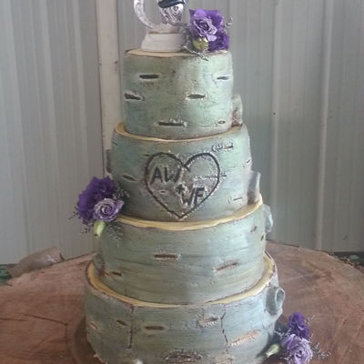 Rustic Tree Bark Cake Thanks To Kaysie Lackeys Tutorial on Cake Central