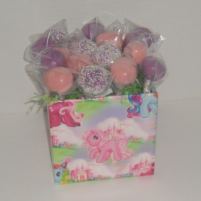 Cake Pops For A My Little Pony Birthday Party