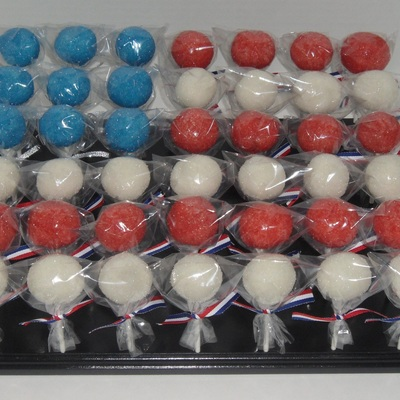 Red, White, Blue Cake Pops