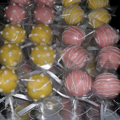 Pink And Yellow Cake Pops