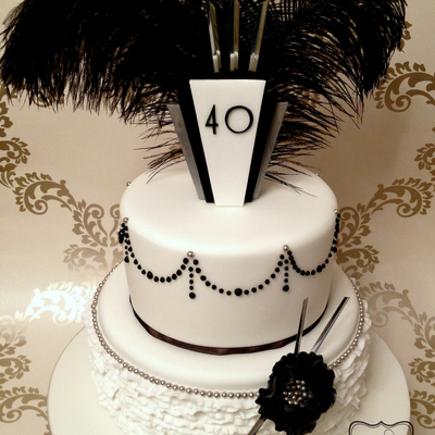 Art Deco Style Birthday Cake The Birthday Girl Was Having A 1920S Themed Birthday Cake So I Thought Id Go Flapper Girl