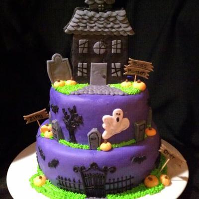 Phenomenal Haunted House Cake Decorating Photos Funny Birthday Cards Online Inifofree Goldxyz
