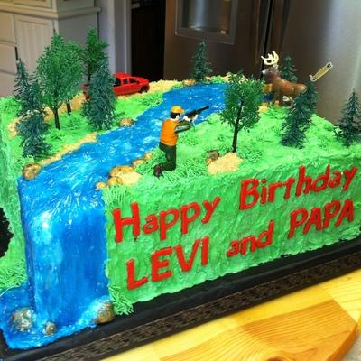 Fine Hunting Cake Decorating Photos Funny Birthday Cards Online Aboleapandamsfinfo