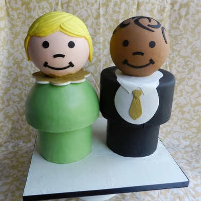 Little People Wedding Cake