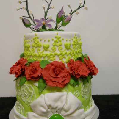 Practicing Piping And Sugar Flowers on Cake Central
