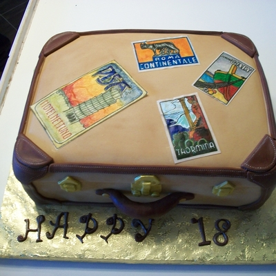 Luggage 18Th Birthday Cake