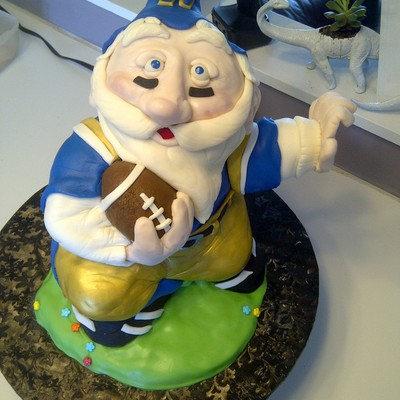 Garden Gnome Foot Ball Cake