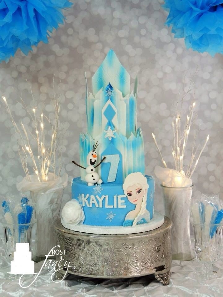 Happy 7Th Birthday Kaylie Is Huge Fan Of The Frozen Movie Her Favorite Character Is Elsa And Of Coarse Olaf When She Saw Her Cake Her
