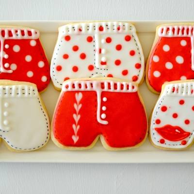 Valentine's Day Shorts Cookies