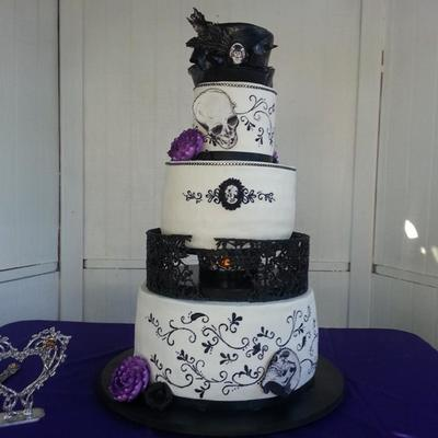 Goth Inspired Wedding Cake on Cake Central