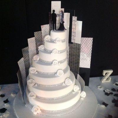 Art Deco Buttercream Wedding Cake : Top Art Deco Cakes - CakeCentral.com
