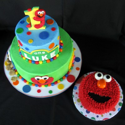 Buttercream With Fondant Amp Gumpaste Accents Cookie Monsters Cookies Are Real