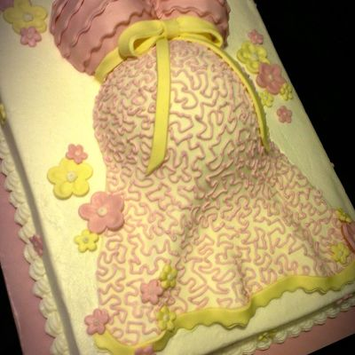 Precious In Pink Baby Belly Cake