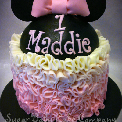 Ruffled Minnie Mouse Cake