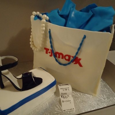 Shopping Bag Cake