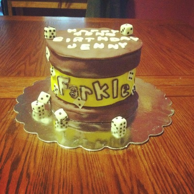 Farkle Inspired Cake Birthday Cake I Made For Wonderful Sister Jennys 42Nd Birthday She Was Born With Down Syndome And Has Been More Of A