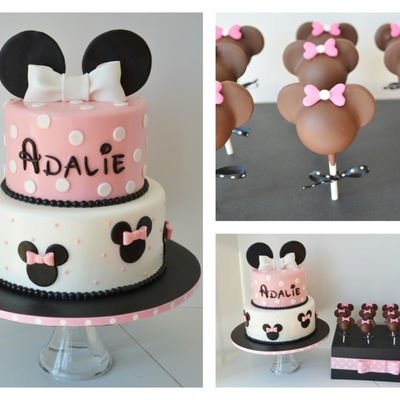 Minnie Birthday Cake And Cake Pops