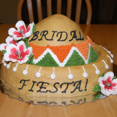 Mexican Theme Bridal Shower Cake