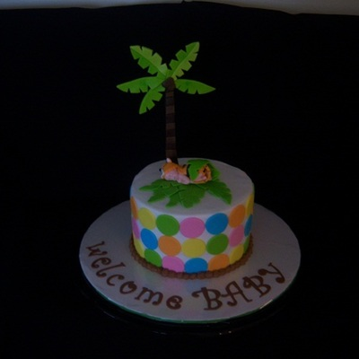 Rain Forest Theme Baby Shower Cake/cupcakes