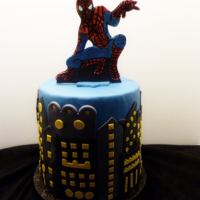A Spiderman Cake Made For The Monthly Birthday Celebration At A Local Residential Recovery Center As A Member Of Birthday Cakes 4 Free M