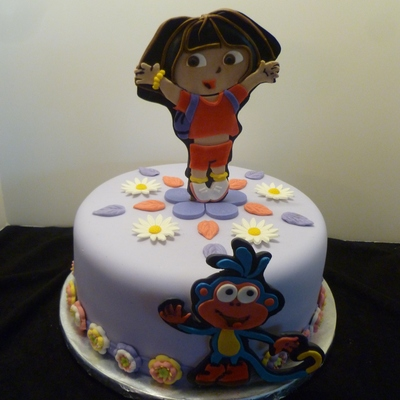 A Dora And Boots Cake Made For The Monthly Birthday Celebration At A Local Residential Recovery Center As A Member Of Birthday Cakes 4 Fre...