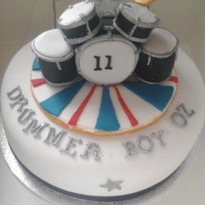 Drum Themed Cake
