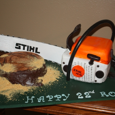 Stihl Chainsaw Cake