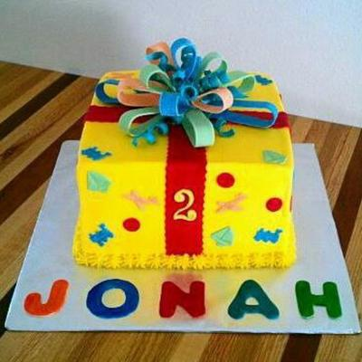 Yellow Buttercream With Fondant Decorations