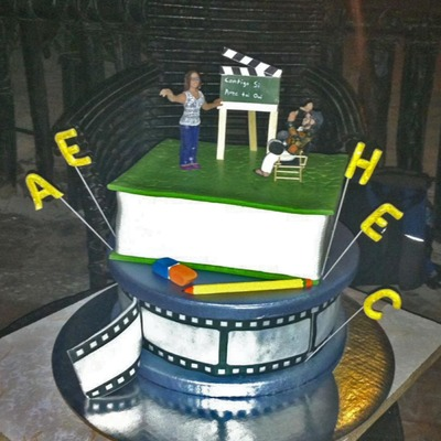 Wedding Cake For A Teacher And A Movie Director