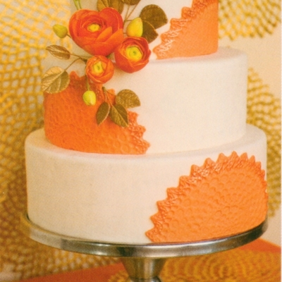 Sunburst Wedding Cake