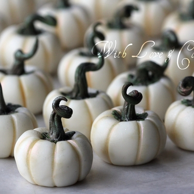 White Chocolate Pumpkins (Tutorial) on Cake Central