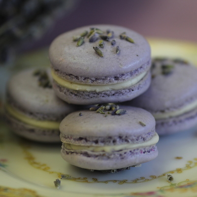 Lavender & Vanilla French Macarons
